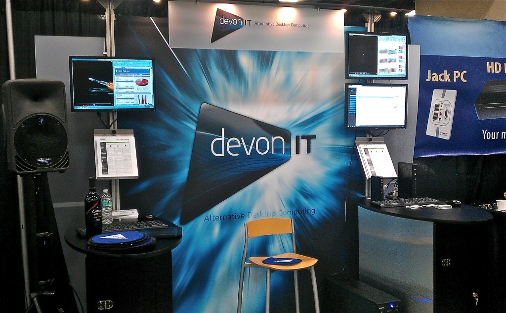 Devon IT VMworld 2012 Event Recap Booth Setup